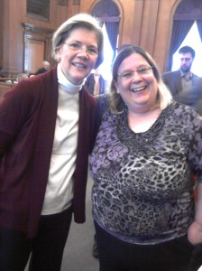 Photo of Elizabeth Warren & Erin O'Leary